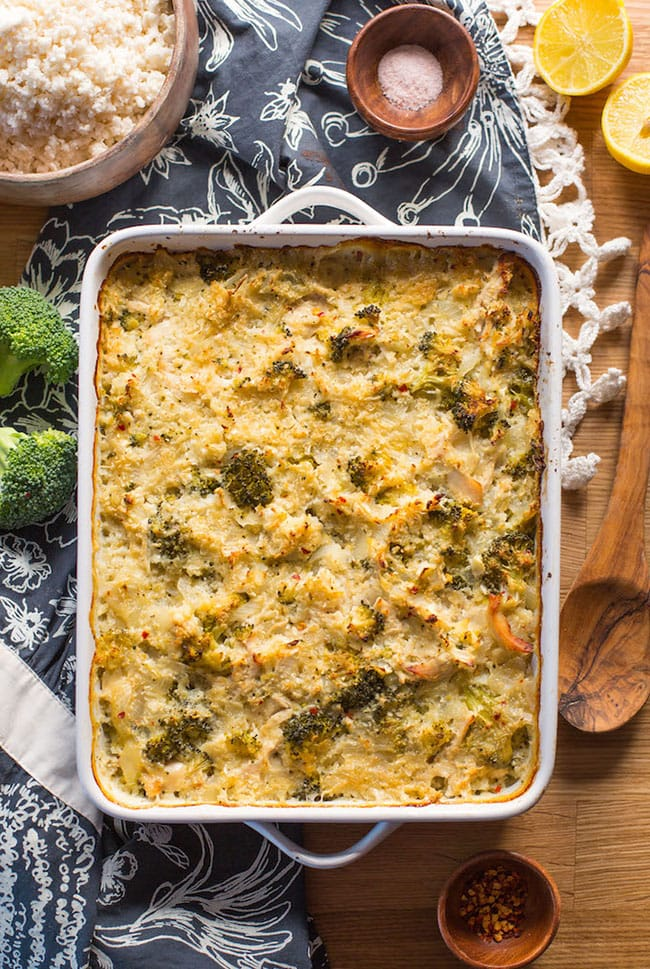 chicken broccoli cauliflower rice casserole