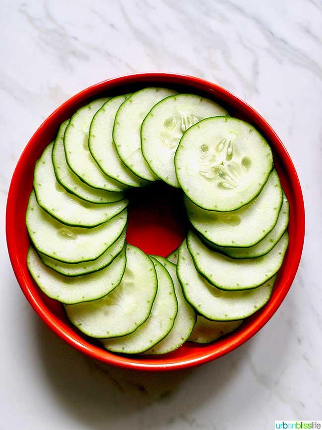 Cucumbers in a bowl