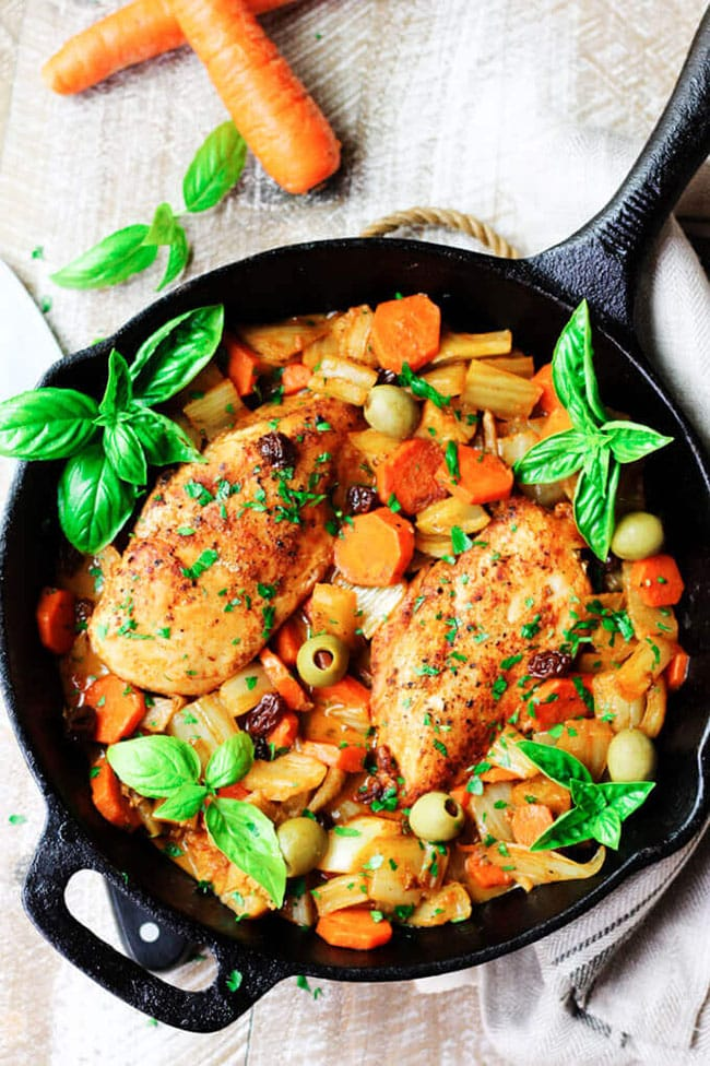 fennel chicken Mediterranean style