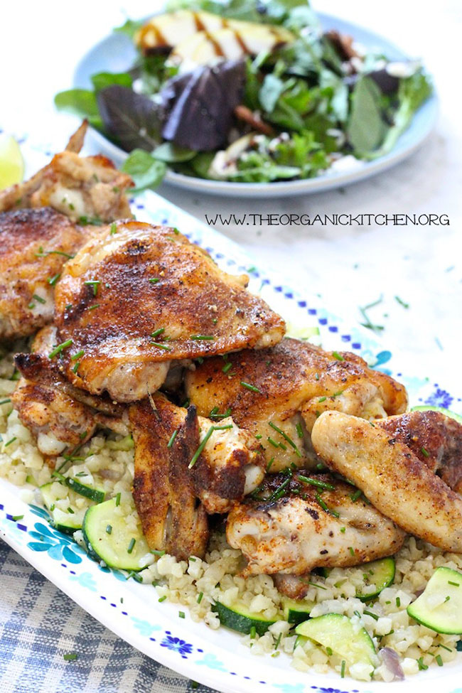 Moroccan chicken with cauliflower rice