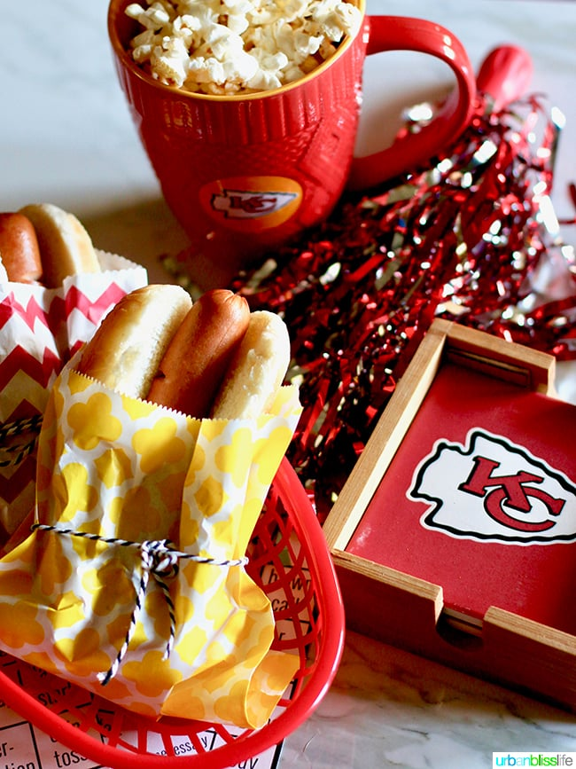 NFL Coasters Mug Party Food Tips for Making Your Homegating Party a Touchdown! Ideas and Recipes on UrbanBlissLife.com