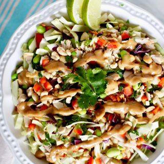 Thai Chicken Salad with dressing
