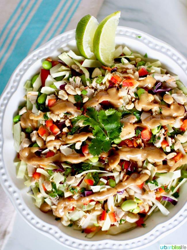 Thai Chicken Salad With Peanut Dressing Cpk Copycat Recipe