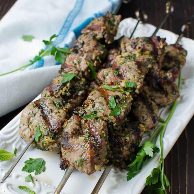 grilled lamb kebobs