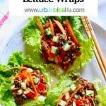 Mushroom Sausage Lettuce Wraps