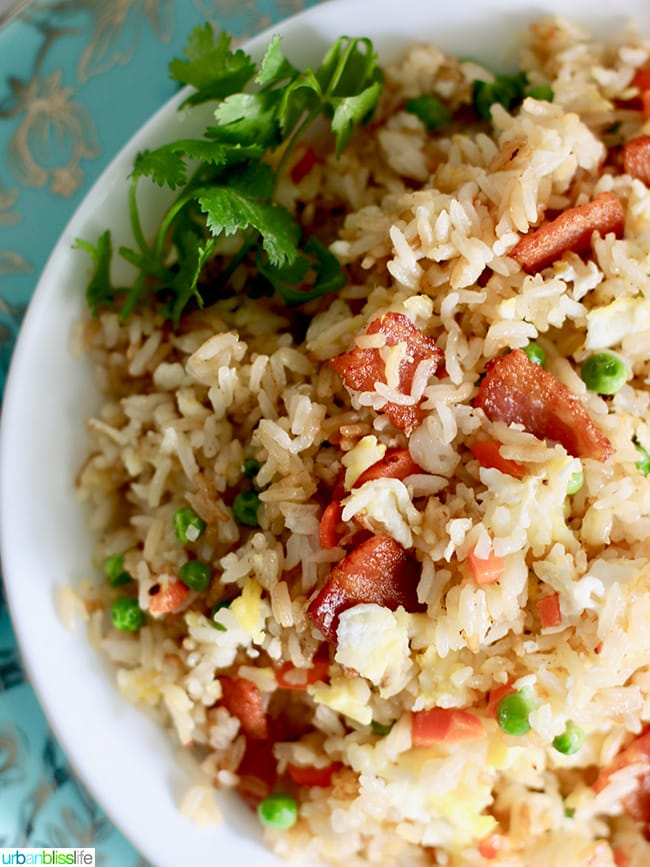 Filipino Bacon Fried Rice - easy family friendly dinner