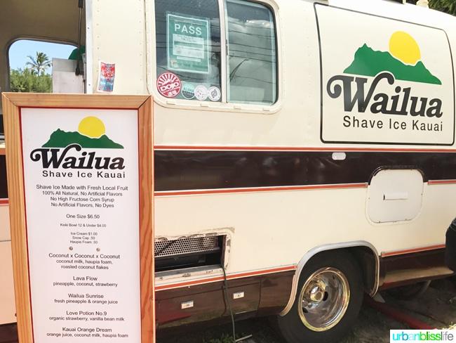 Wailua Shave Ice Truck Kauai