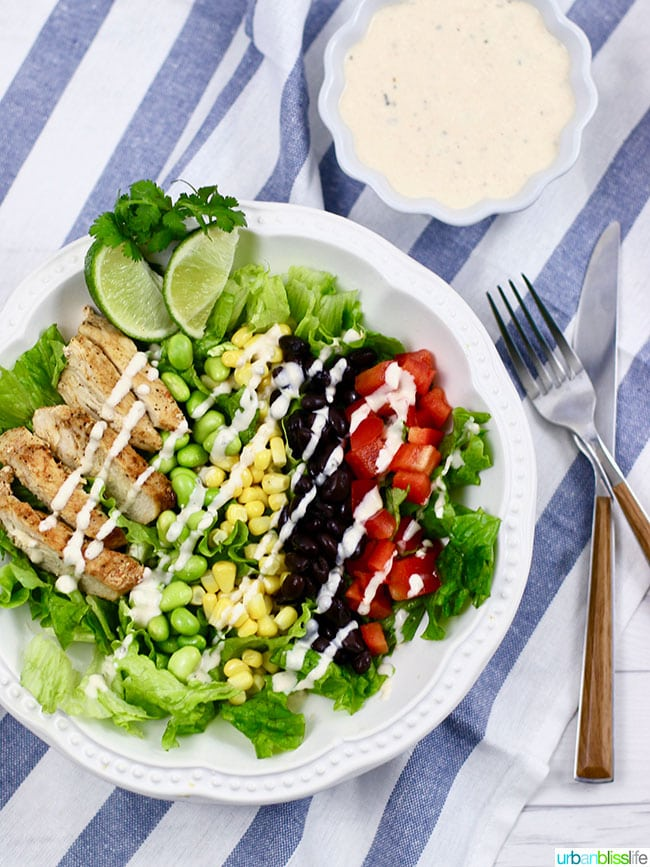 Dairy free chicken salad in a bowl