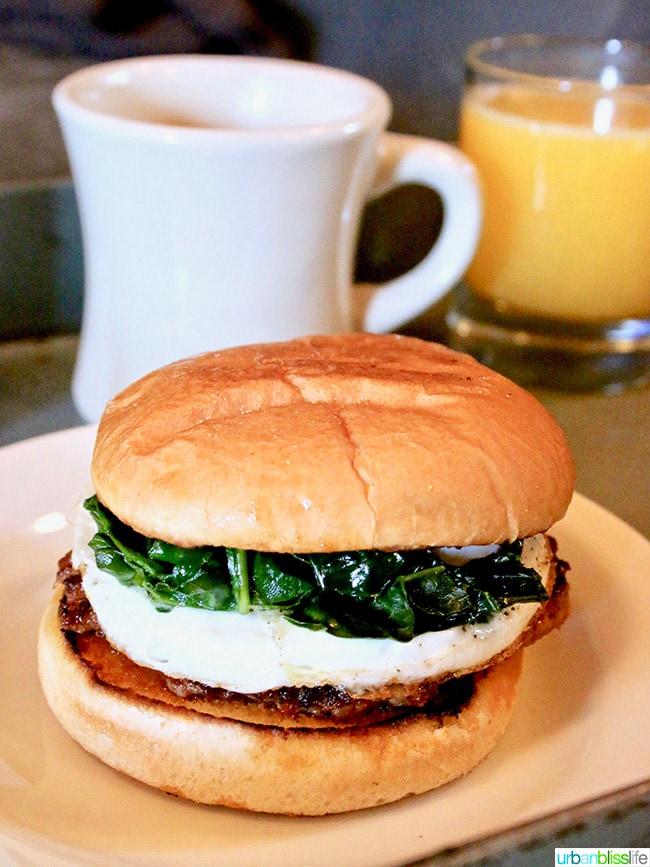 breakfast sandwich close up