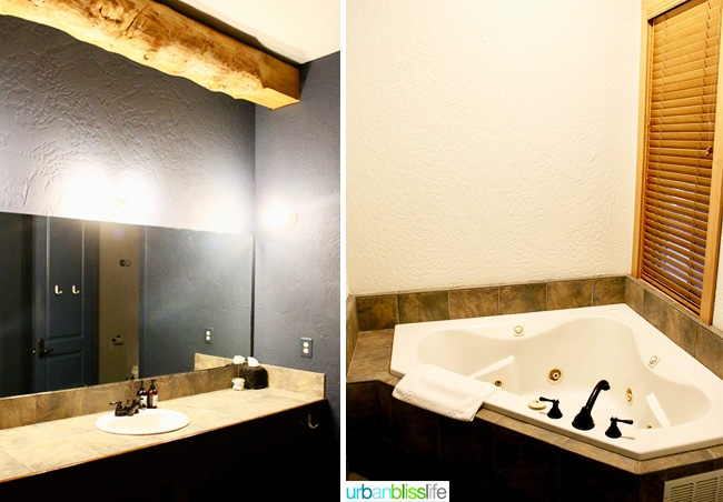 bathroom at Suttle Lodge in Sisters, Oregon