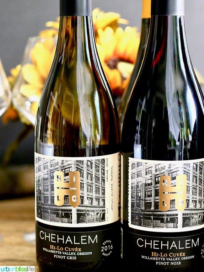 Chehalem Winery wine bottles