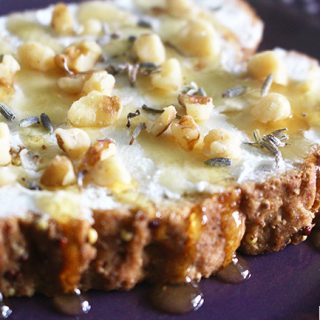 Honey Walnut Lavender with goat cheese, recipe on UrbanBlissLife.com