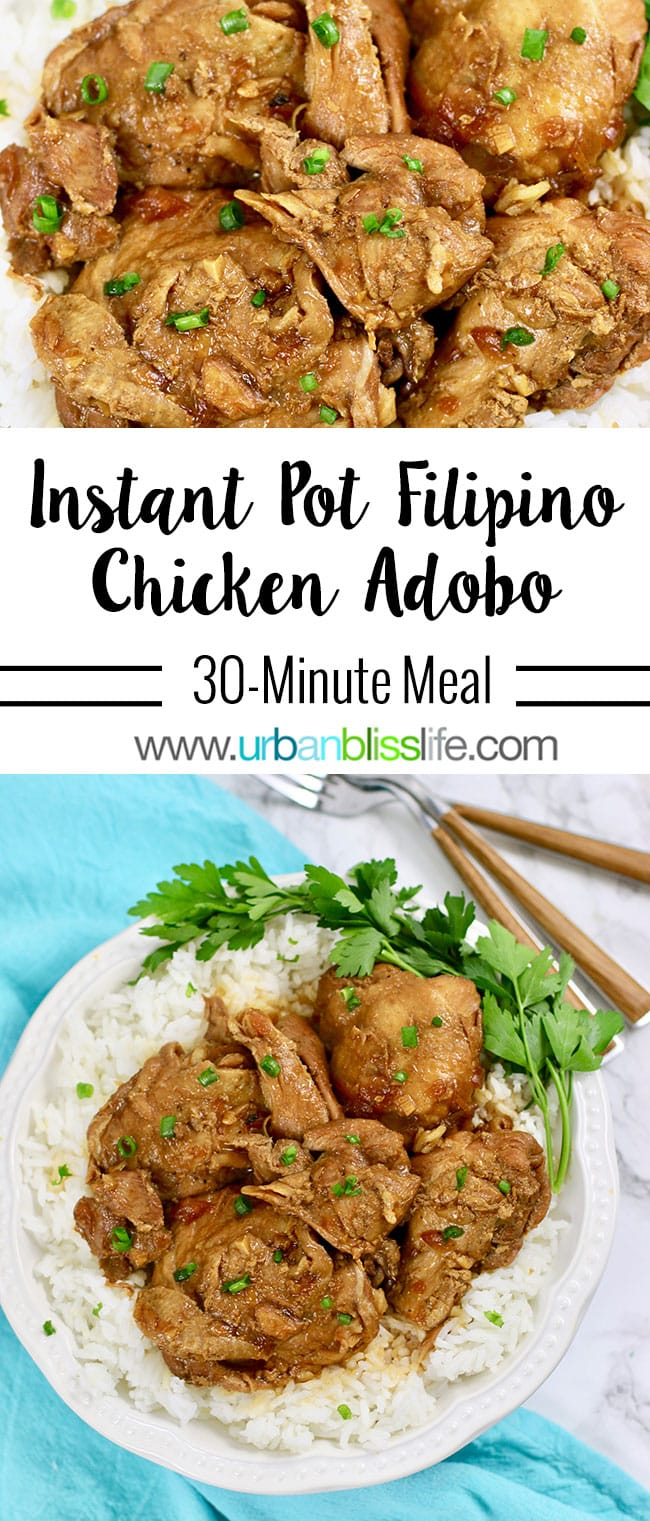 Instant Pot Filipino Chicken Adobo on UrbanBlissLife.com
