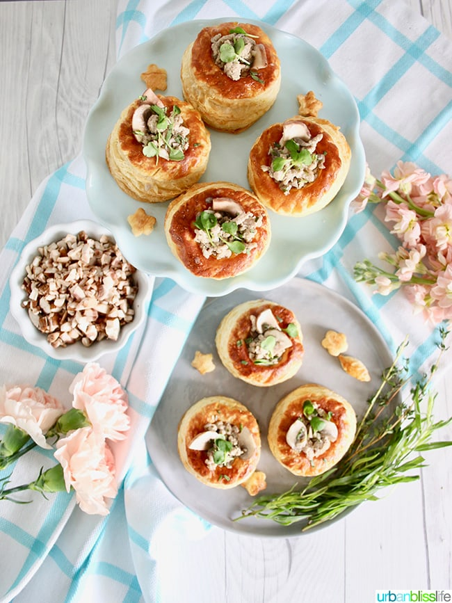 Meaty Mushroom Puff Pastry Cups appetizer recipe