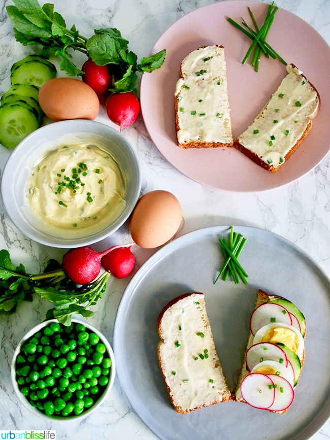 herb butter and toast