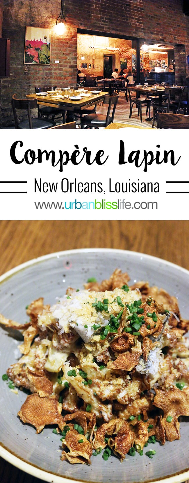 Compère Lapin restaurant in New Orleans, Louisiana. Dining Guide on UrbanBlissLife.com