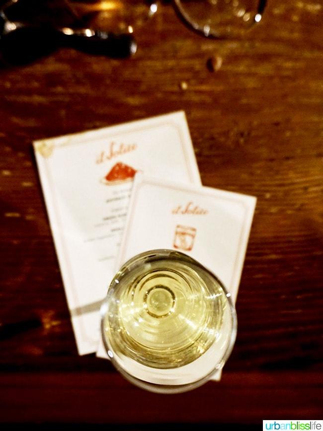Il Solito restaurant white wine