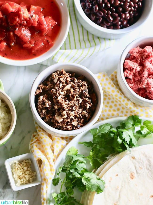 Mexican Lasagna ingredients