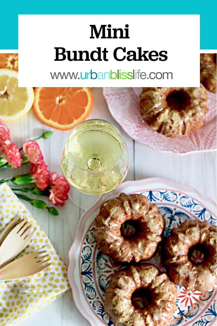mini bundt cakes with citrus on urbanblisslife.com