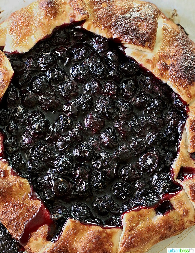 Summer Dessert - Blueberry Galette