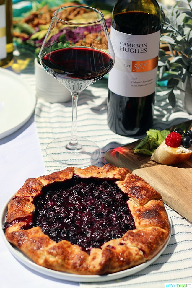 Blueberry Galette with red wine