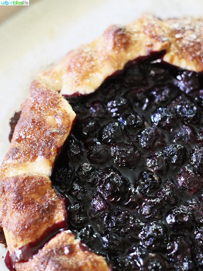 Easy Summer Dessert - Blueberry Galette on UrbanBlissLife.com