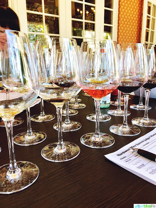 wine competition judging flight