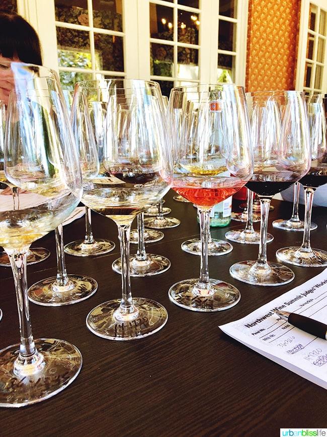 wine competition judging flight