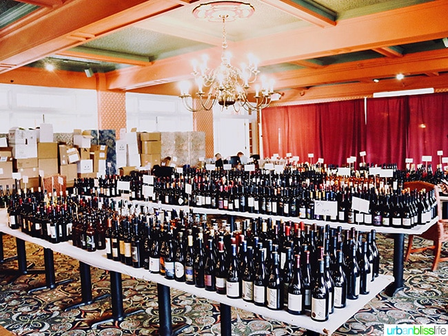 the wine competition backroom