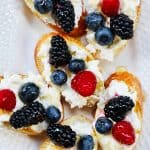 feature pic of ricotta crostini with summer berries ricotta crostini with summer berries