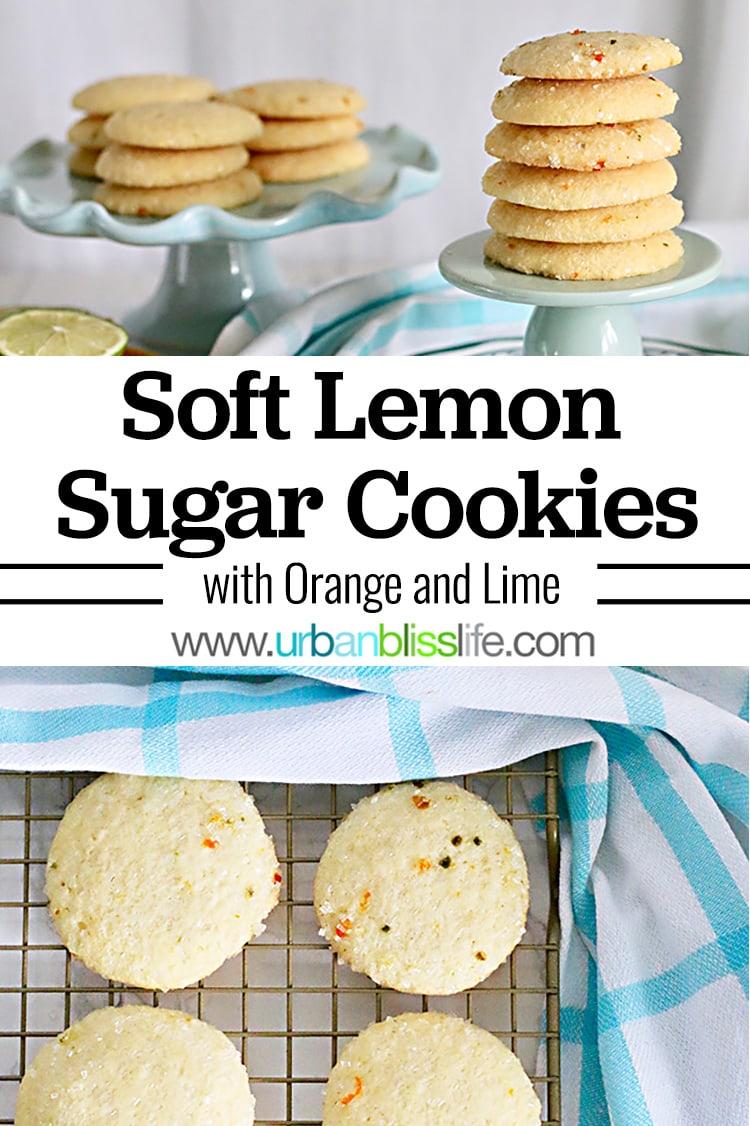 soft lemon sugar cookies on urbanblisslife.com