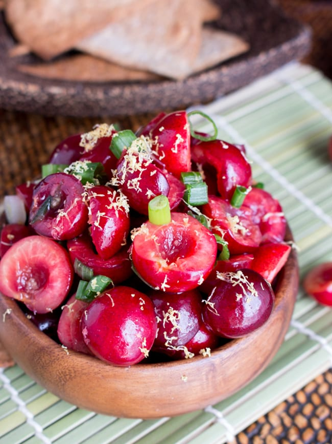 cherry ginger salsa