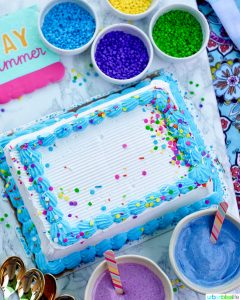 ice cream cake sprinkles and homemade magic shell