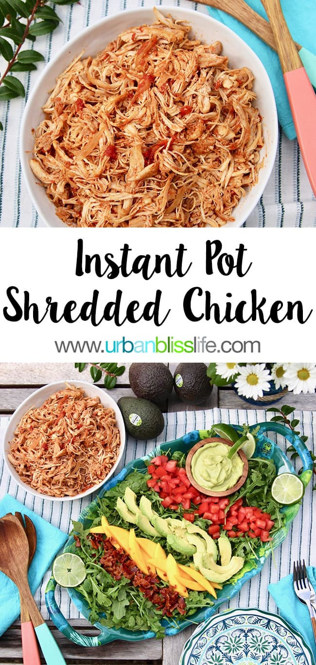 Instant Pot Shredded Chicken on UrbanBlissLife.com