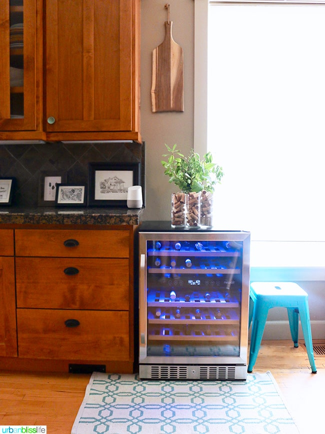 NewAir wine cooler at home