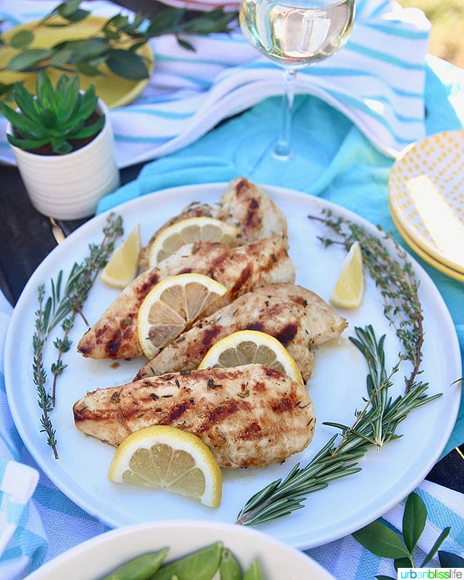 Simple Lemon Grilled Chicken with herbs