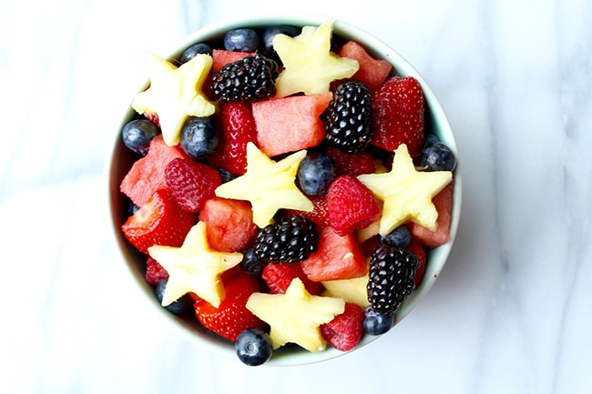 red white blue fruit salad