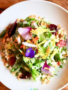 beautiful salad at The Bewildered Pig restaurant