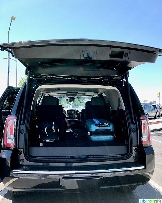 GMC Yukon trunk space