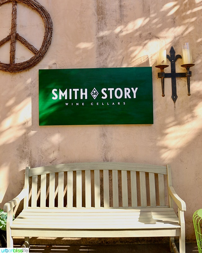 Smith Story wine cellars tasting room