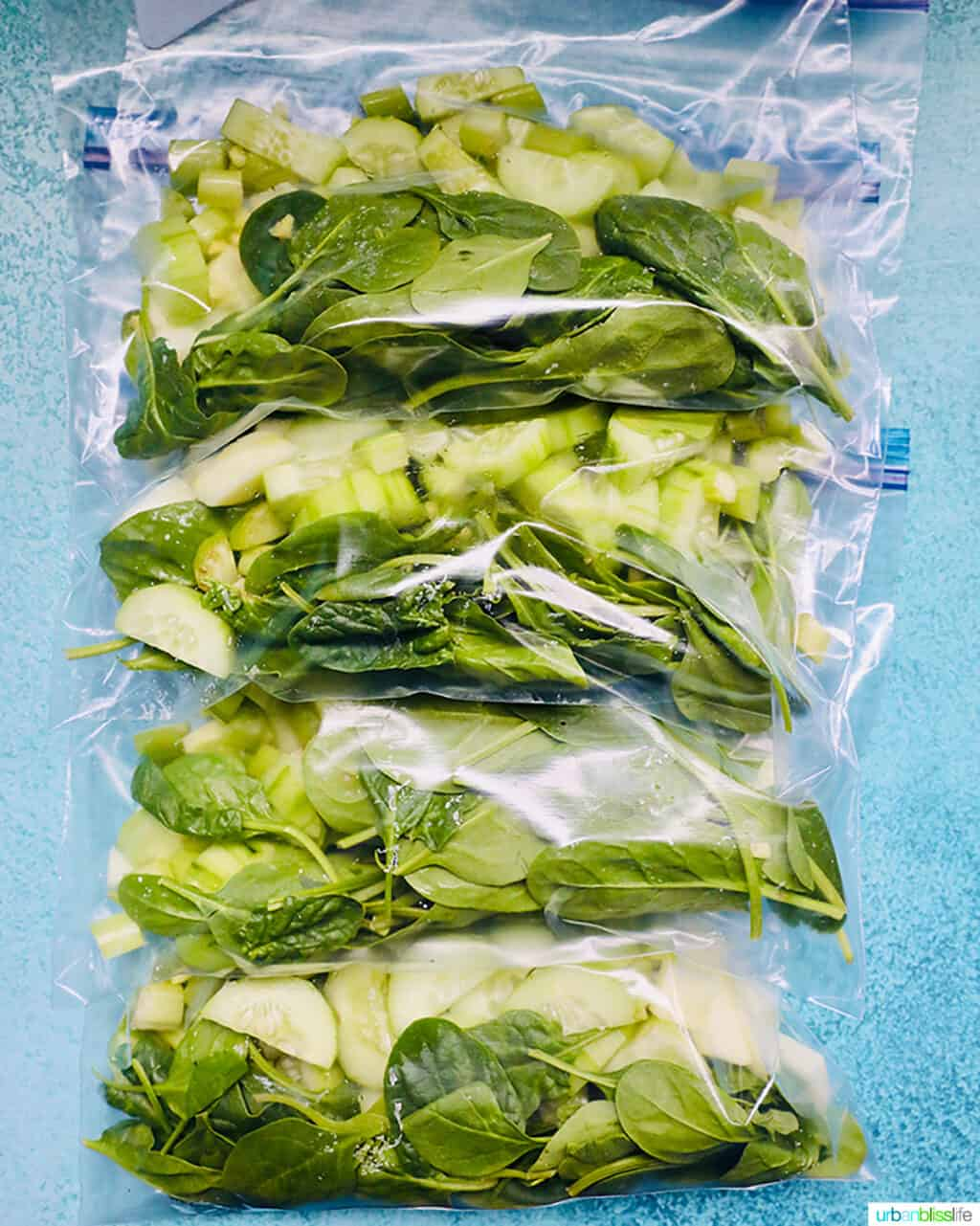 freezer-ready green smoothie packs