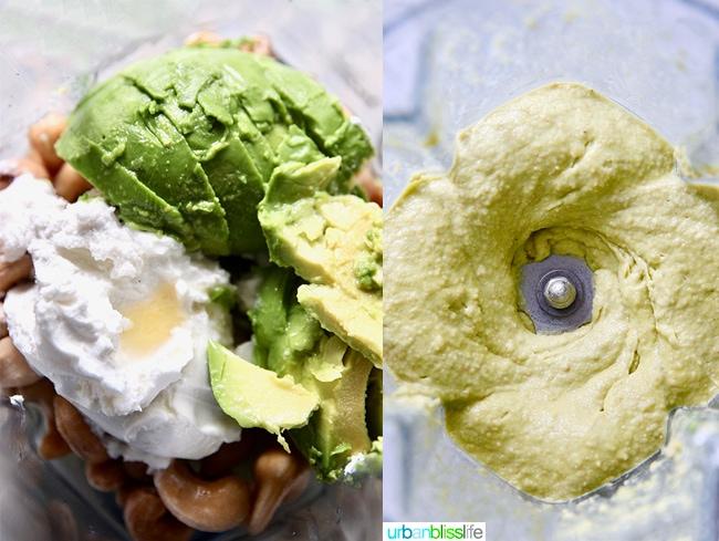 avocado lime cheesecake mixture