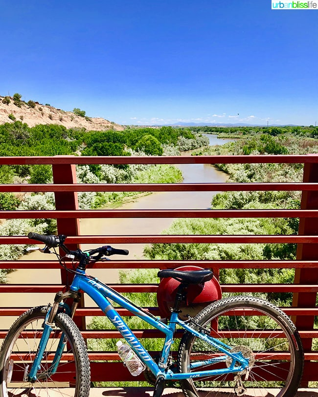 bike tour over rio grande in in Albuquerque, New Mexico