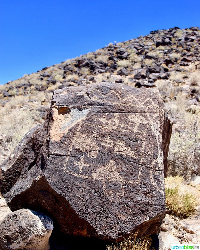 petroglyph in Albuquerque, New Mexico