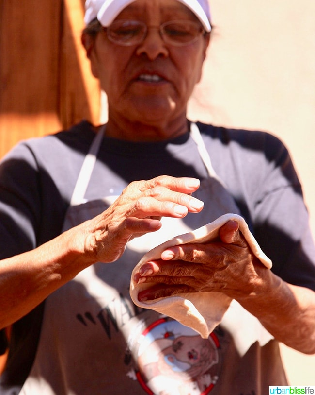 making fry bread in Albuquerque, New Mexico