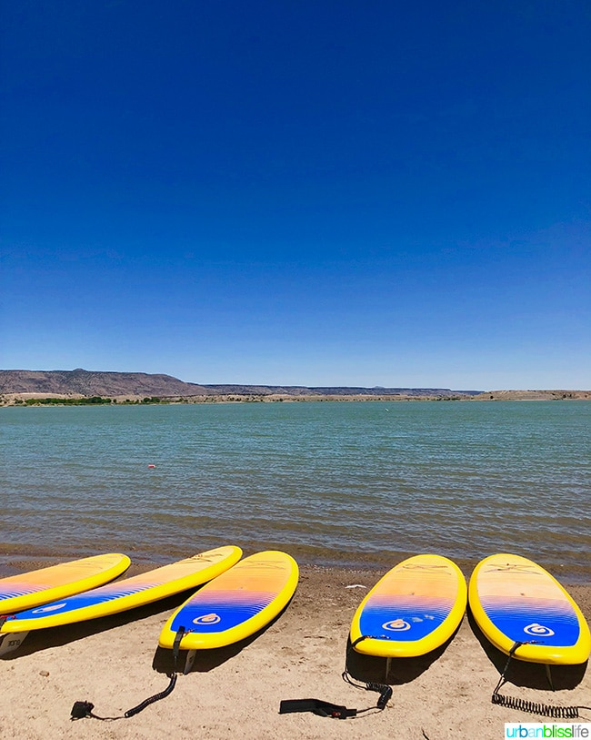 stand up paddleboarding cochiti lake albuquerque