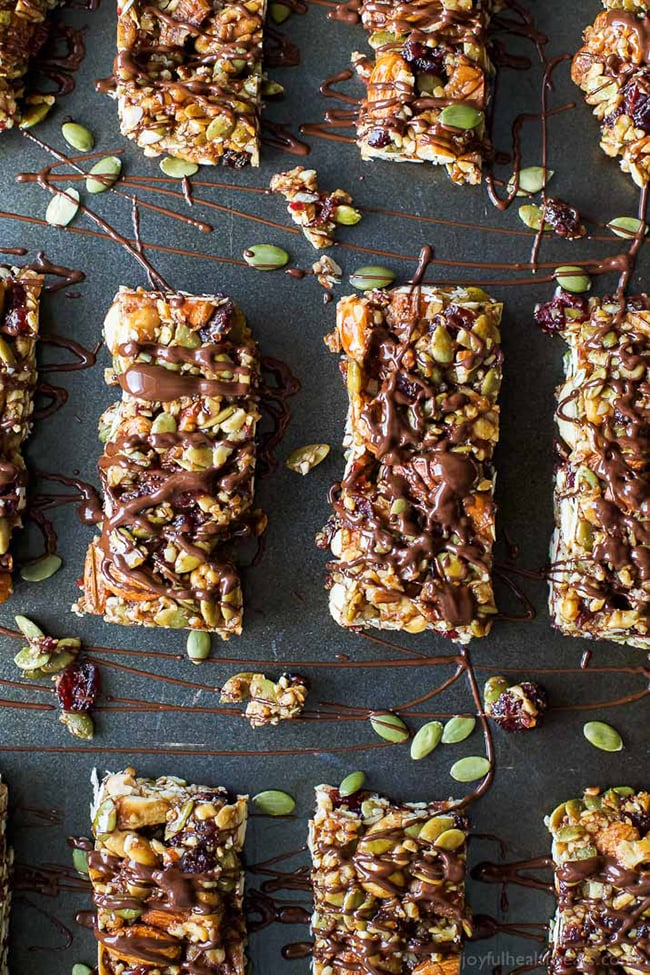 cranberry almond granola bars
