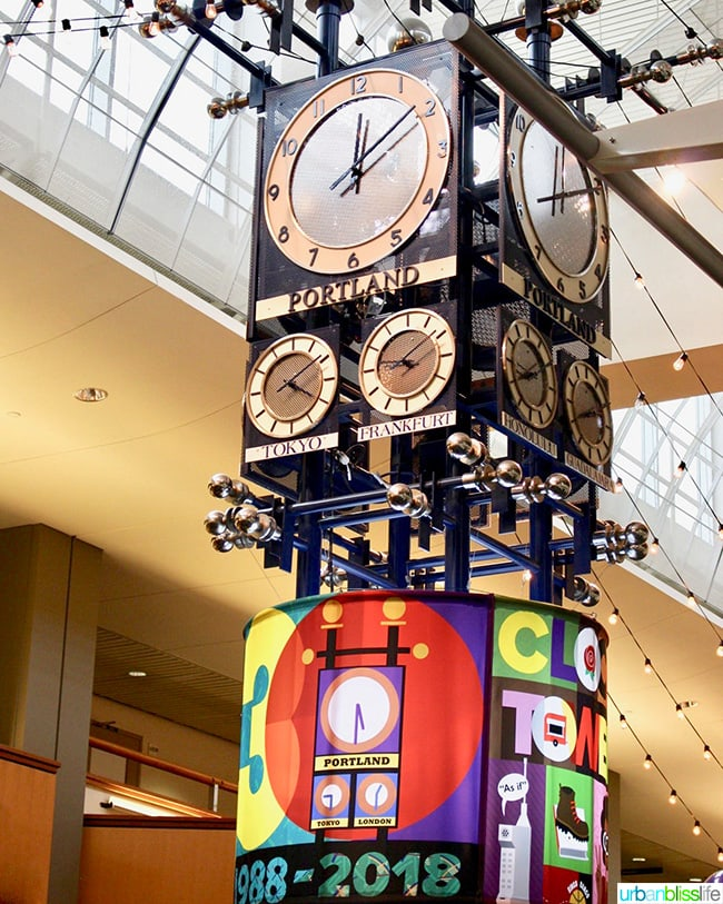 the pdx airport clock tower