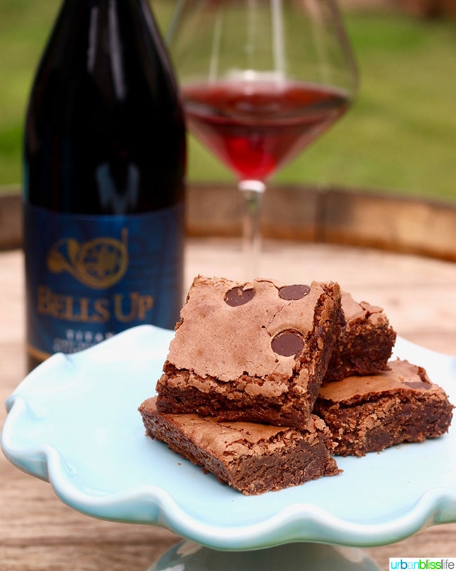 Pinot Noir Chocolate Chip Brownies