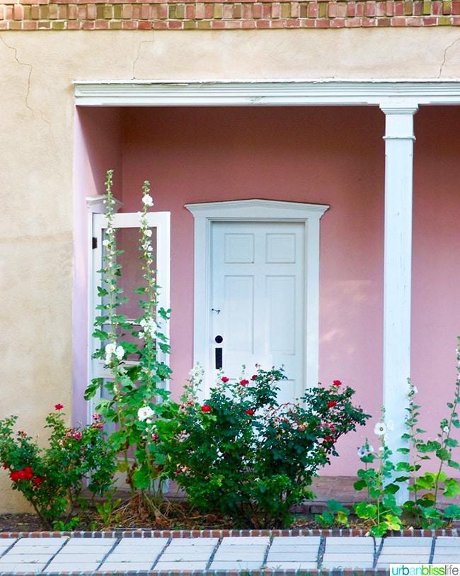pink wall Los Poblanos Inn Albuquerque New Mexico